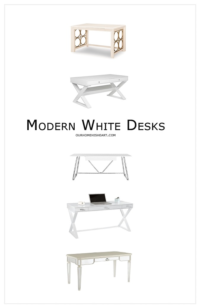 Modern White Desks