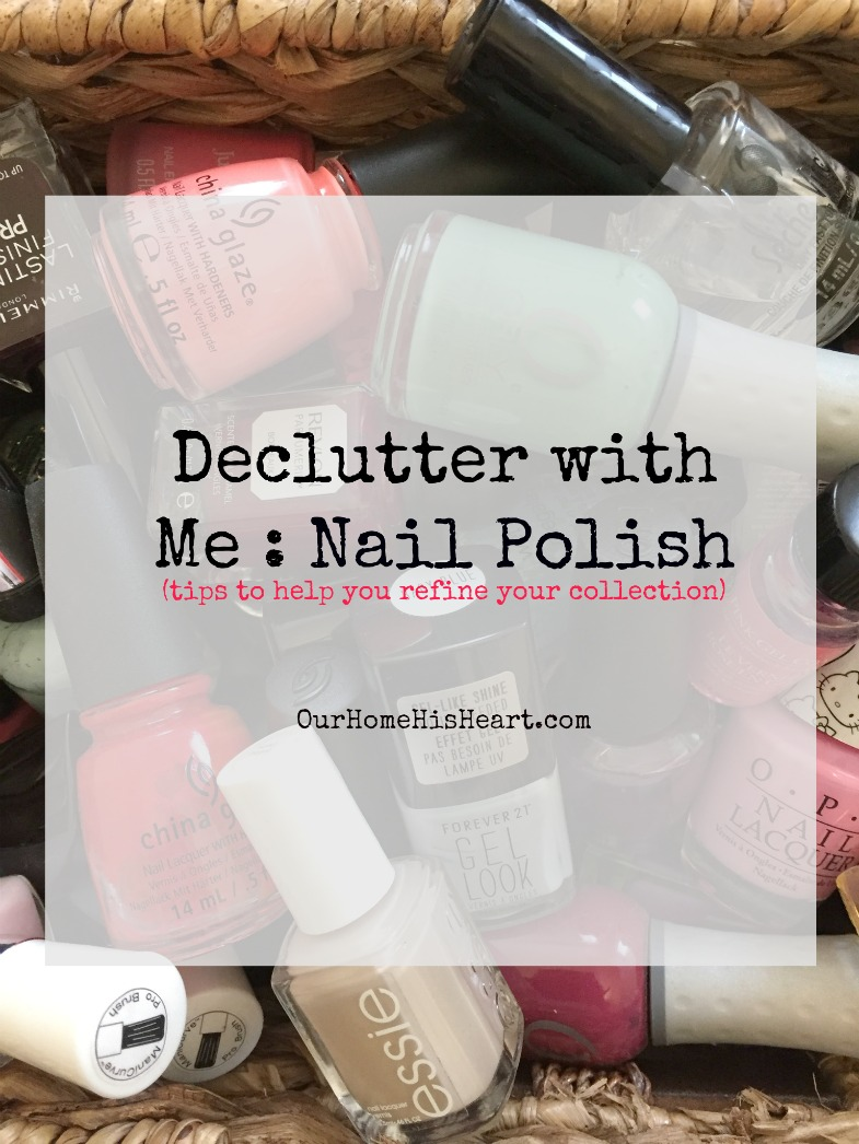 Nail Polish Declutter Tips