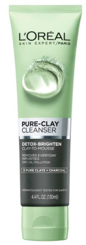 Loreal Pure Clay Charcoal Cleanser Review