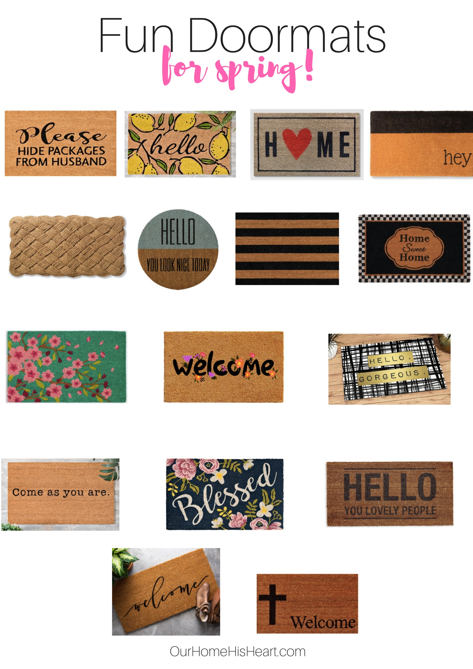Fun Doormats for Spring